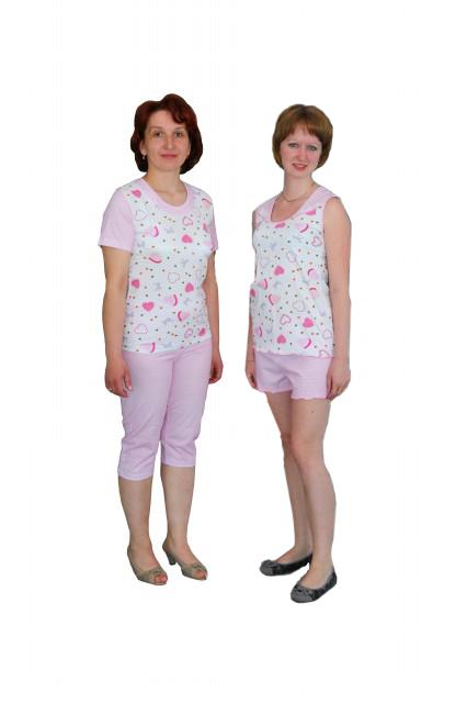 пижама жен С-6123 м583;С-6127 м646 - textil-ivanovo.ru